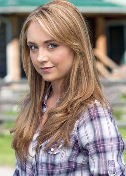 Heartland star Amber Marshall Photo courtesy of CBC