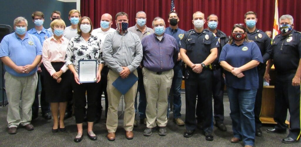A dozen City of Gulf Breeze employees were honored at the Nov. 16 City Council meeting for their superior responses as members of the City's Local Incident Management Team during Hurricane Sally. Glenda Caudle   Gulf Breeze News
